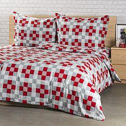 4Home Flanelové obliečky Checker, 220 x 200 cm, 2x 70 x 90 cm, 220 x 200 cm, 2 ks 70 x 90 cm