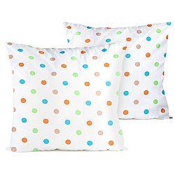 4home Obliečka na vankúšik Dots oranžová, 40 x 40 cm