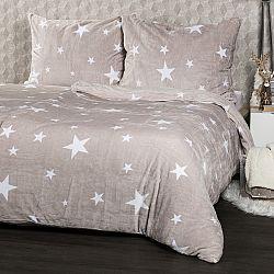 4Home obliečky mikroflanel Stars Grey, 140 x 200 cm, 70 x 90 cm