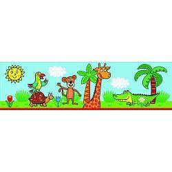 AG Art Samolepiaca bordúra Žirafa, 500 x 14 cm