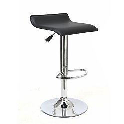 Barová stolička, ekokoža čierna/chróm, LARIA