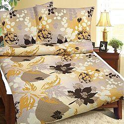 Bellatex Krepové obliečky Jesenné lístie, 140 x 200 cm, 70 x 90 cm