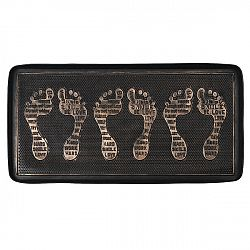 BO-MA Trading Gumová podložka na topánky bronzová patina, 75 x 40 cm