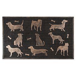 BO-MA Trading Gumová rohožka Psy bronzová patina, 75 x 45 cm