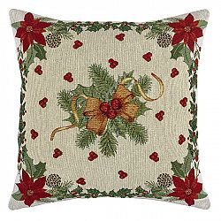 BO-MA Trading Vánoční povlak na polštářek Mašle, 45 x 45 cm