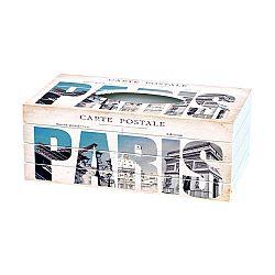 Box na vreckovky Carte Postale, 24,5 cm