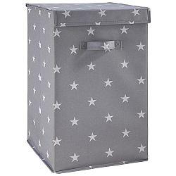 Box Sandy V Šedej S Vrchnákom 30x30x30 Cm