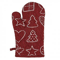 Dakls Vianočná chňapka Anjelik červená, 18 x 28 cm