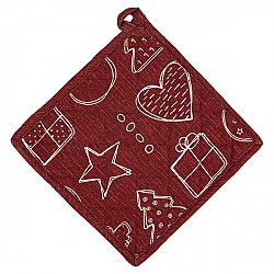 Dakls Vianočná podložka Anjelik červená, 20 x 20 cm