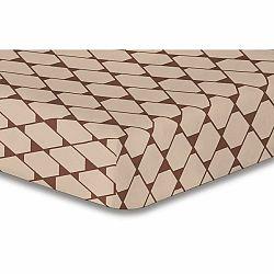 DecoKing Prestieradlo Rhombuses hnědá S1, 160 x 200 cm