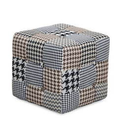 Dizajnový taburet, látka patchwork, PEPITO TYP 8