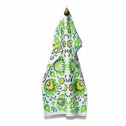 Domarex Kuchynská utierka Folk zelená, 45 x 70 cm