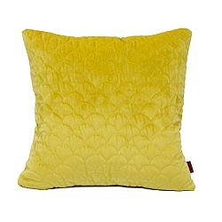 Domarex Obliečka na vankúšik Elite Velvet žltá, 45 x 45 cm