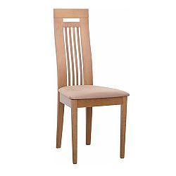 Drevená stolička, dub medový/látka hnedá, EDINA