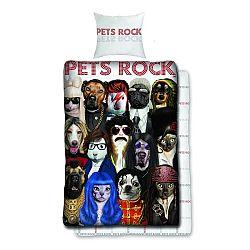 Halantex Bavlnené obliečky Pets Rock, 140 x 200 cm, 70 x 90 cm