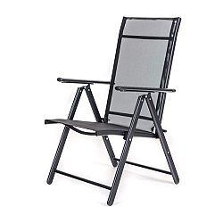 Happy Green Židle zahradní polohovací RAMONA 57 × 68 × 106 cm, antracite