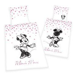 Herding Detské bavlnené obliečky Minnie, 140 x 200 cm, 70 x 90 cm