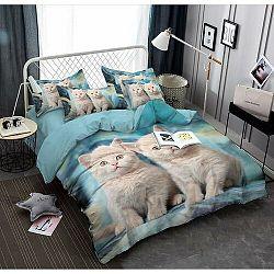 Jahu Obliečky Cats 3D, 140 x 200 cm, 70 x 90 cm