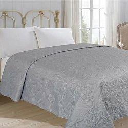 Jahu Prehoz na posteľ Alfa sivá, 220 x 240 cm