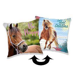Jerry Fabrics Vankúšik s flitrami Horse heart, 40 x 40 cm