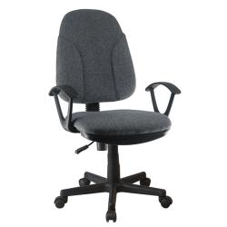 Kancelárska stolička, sivá látka, DEVRI