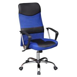 Kancelárske kreslo, modrá/čierna, TC3-973M