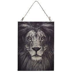 Koopman Obraz na dreve Lev, 28,5 x 20,5 cm