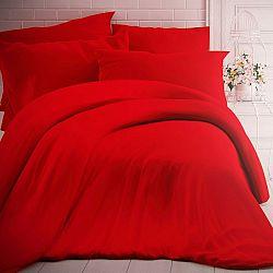 Kvalitex Bavlnené obliečky červená, 140 x 200 cm, 70 x 90 cm
