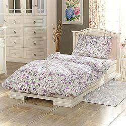 Kvalitex Bavlnené obliečky Provence Beáta fialová, 140 x 220 cm, 70 x 90 cm