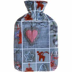 Modom Termofľaša s fleecovým obalom Winter ornaments, 2 l