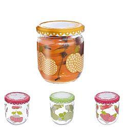Orion 129710 Sada zaváracích pohárov s viečkom Sweet 425 ml, 4 ks, mix farieb