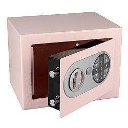 Rcihter Oceľový sejf s elektronickým zámkom, ružová