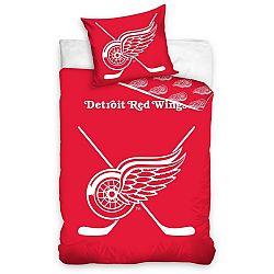 TipTrade Bavlnené svietiace obliečky NHL Detroit Red Wings , 140 x 200 cm, 70 x 90 cm