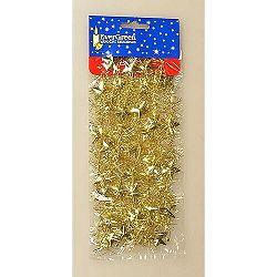 Vianočná reťaz s hviezdami zlatá, 180 cm