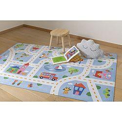 Vopi Detský koberec Ultra Soft Kids Play blue, 90 x 130 cm