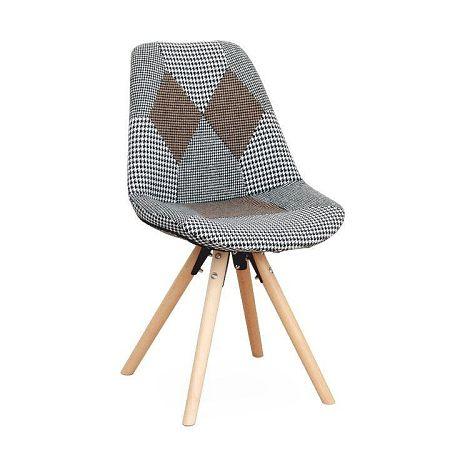Dizajnová stolička, látka patchwork, PEPITO TYP 10