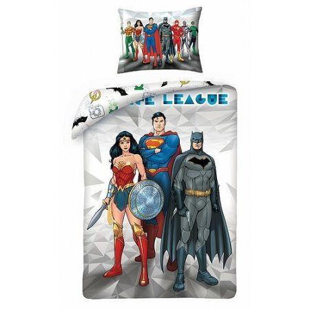 Halantex Bavlnené obliečky Justice League 8101, 140 x 200 cm, 70 x 90 cm