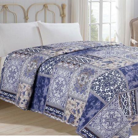 Jahu Prehoz na posteľ Orient modrá, 140 x 220 cm