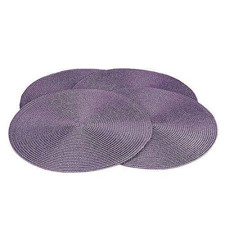 Jahu Prestieranie Deco kulaté fialová, sada 4 kusov, 35 cm