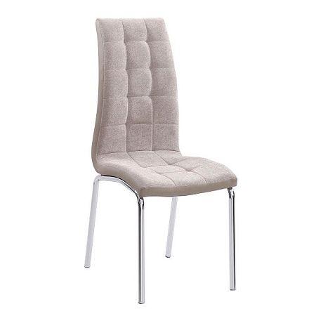 Jedálenská stolička, béžová/chróm, GERDA NEW, poškodený tovar