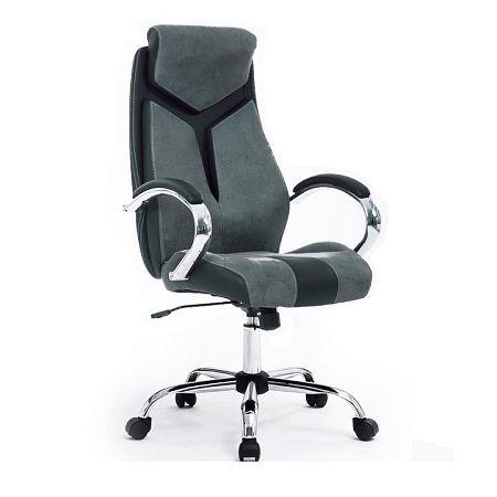 Kancelárske kreslo, sivá/čierna/chróm, TANER, rozbalený tovar