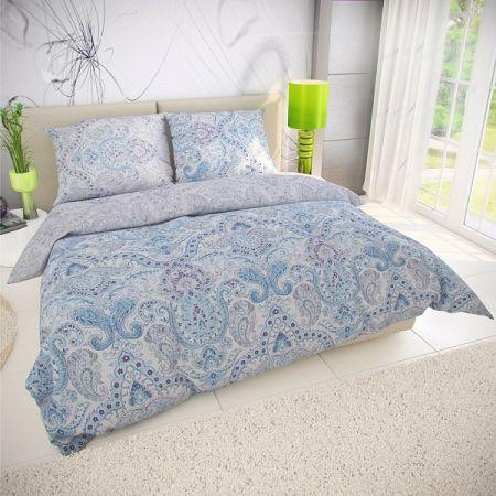 Kvalitex Bavlnené obliečky Paliza modrá, 140 x 200 cm, 70 x 90 cm