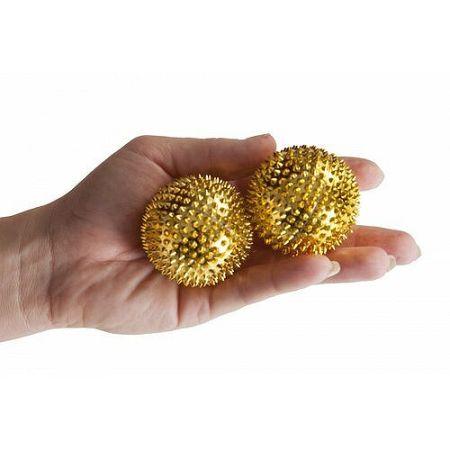 Modom Akupresúrne guľôčky s magnetmi zlatá, pr. 4,5 cm