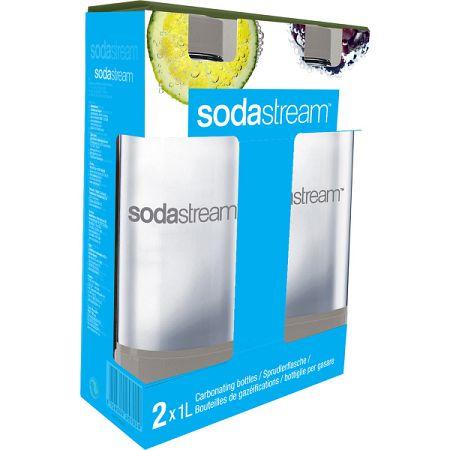 Sodastream 2x fľaša, sivá,