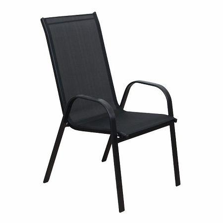 Stohovateľná stolička, tmavosivá/čierna, ALDERA, poškodený tovar