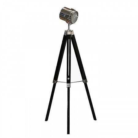Stojacia lampa, čierne drevo/kov, CINDA Typ 26 YF819-B