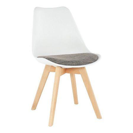 Stolička, biela/hnedá, DAMARA